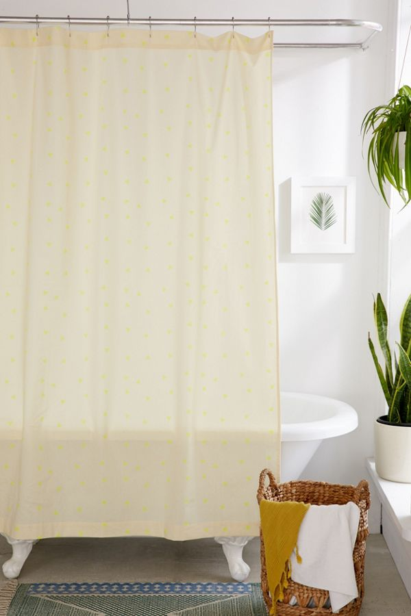 Slide View 1 Scattered Triangle Shower Curtain