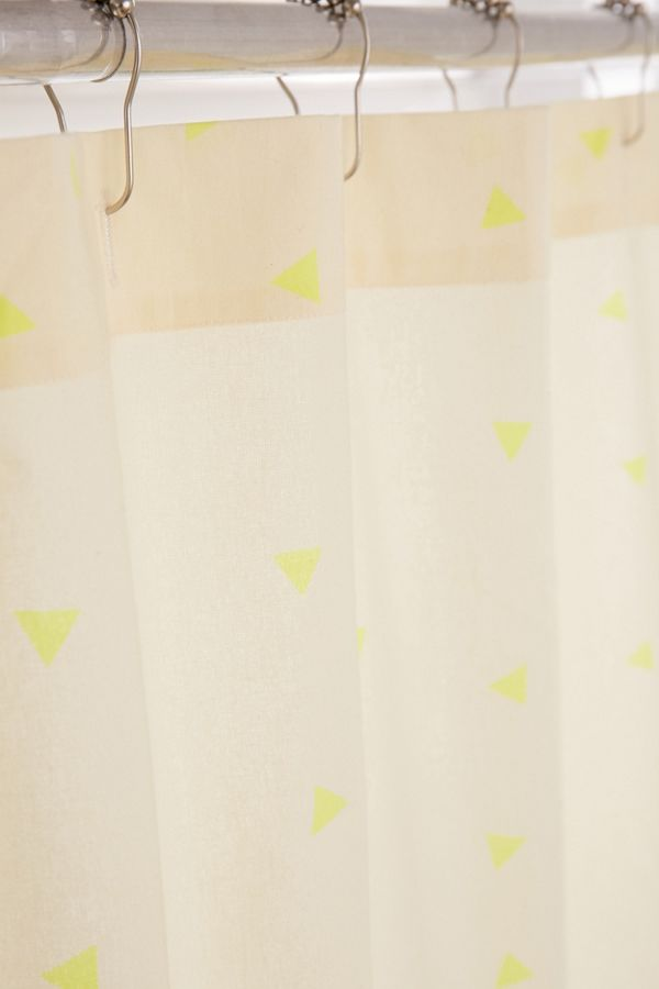 Slide View 2 Scattered Triangle Shower Curtain