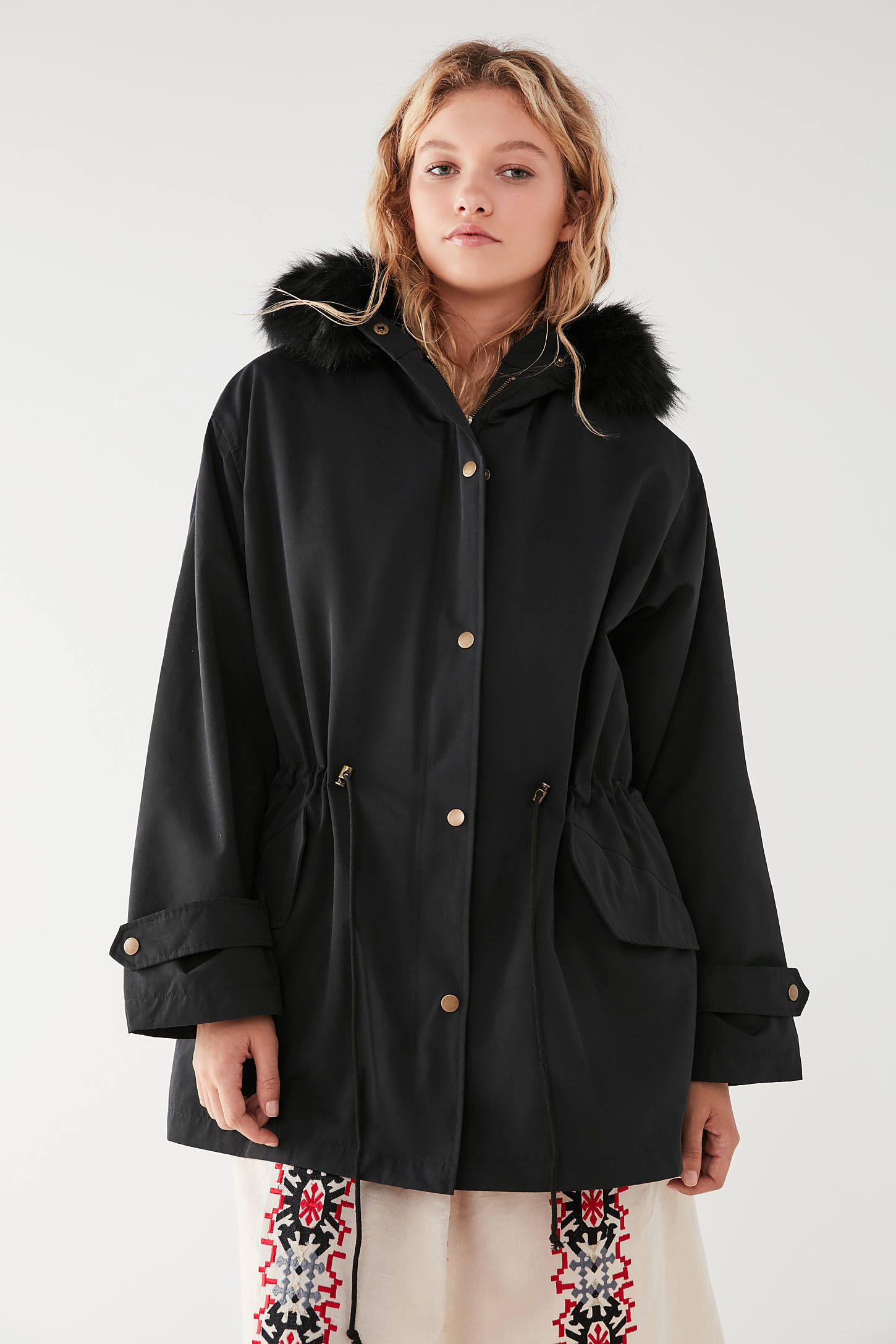 UO Harper Detachable Lining Parka Jacket | Urban Outfitters