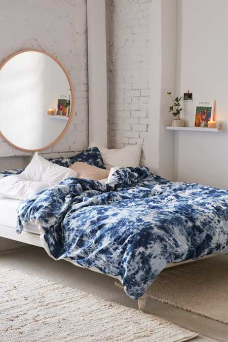Denim Tie-Dye Duvet Cover
