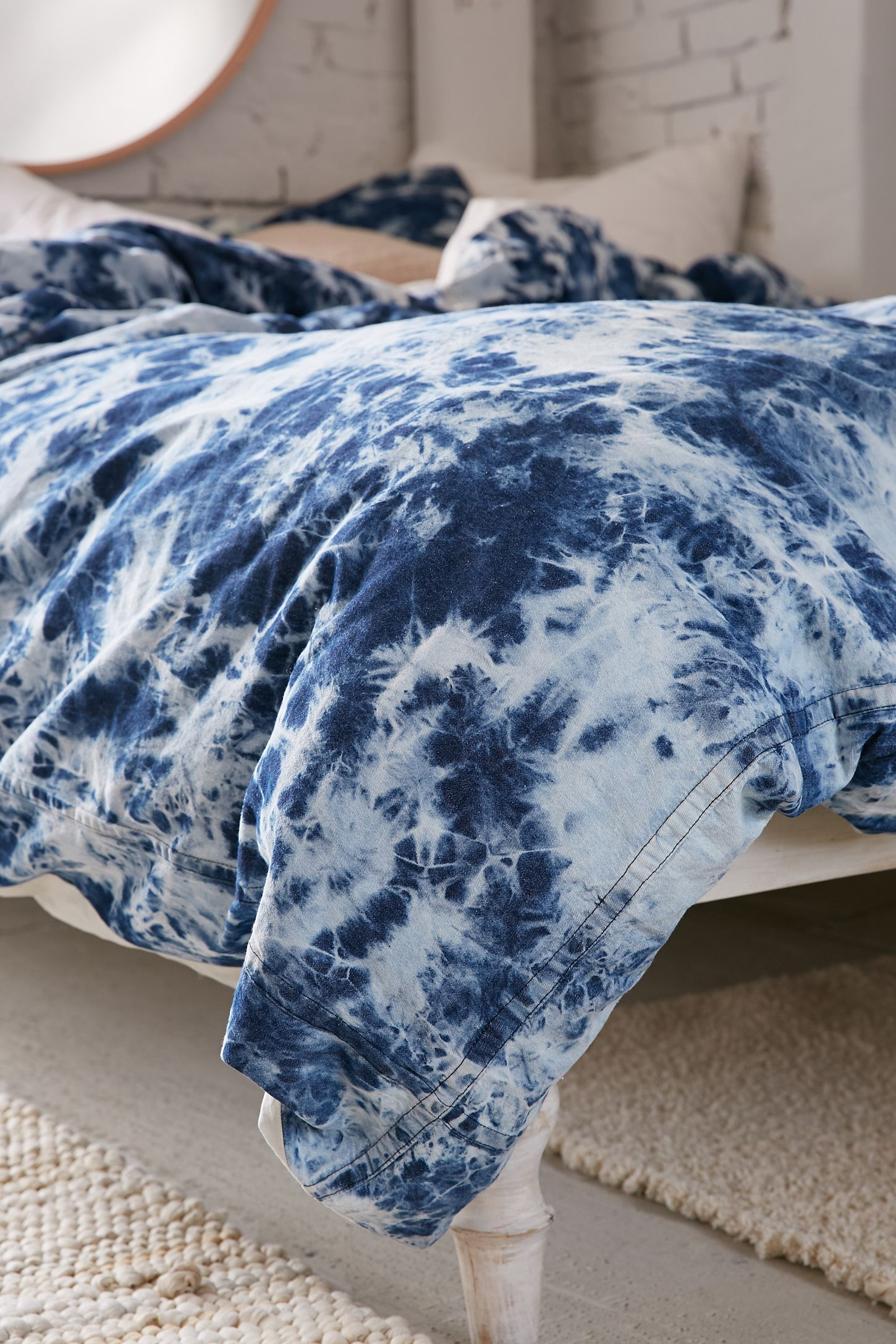 Slide View 5 Denim Tie Dye Duvet Cover