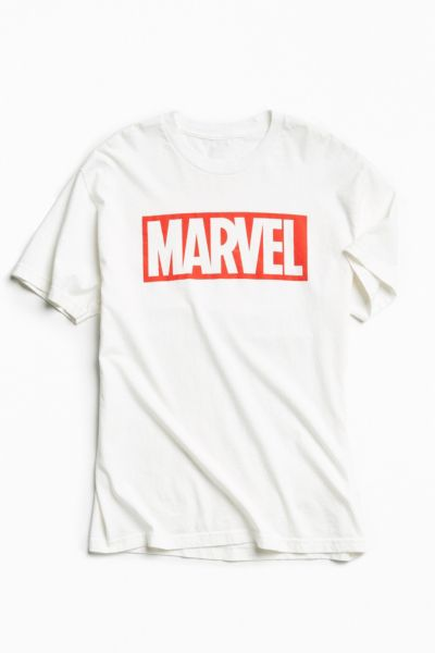 Marvel Logo Tee - White S at Urban Outfitters