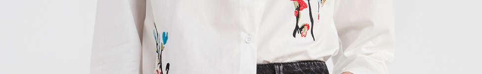 Thumbnail View 1: BDG Floral Embroidered Button-Down Shirt
