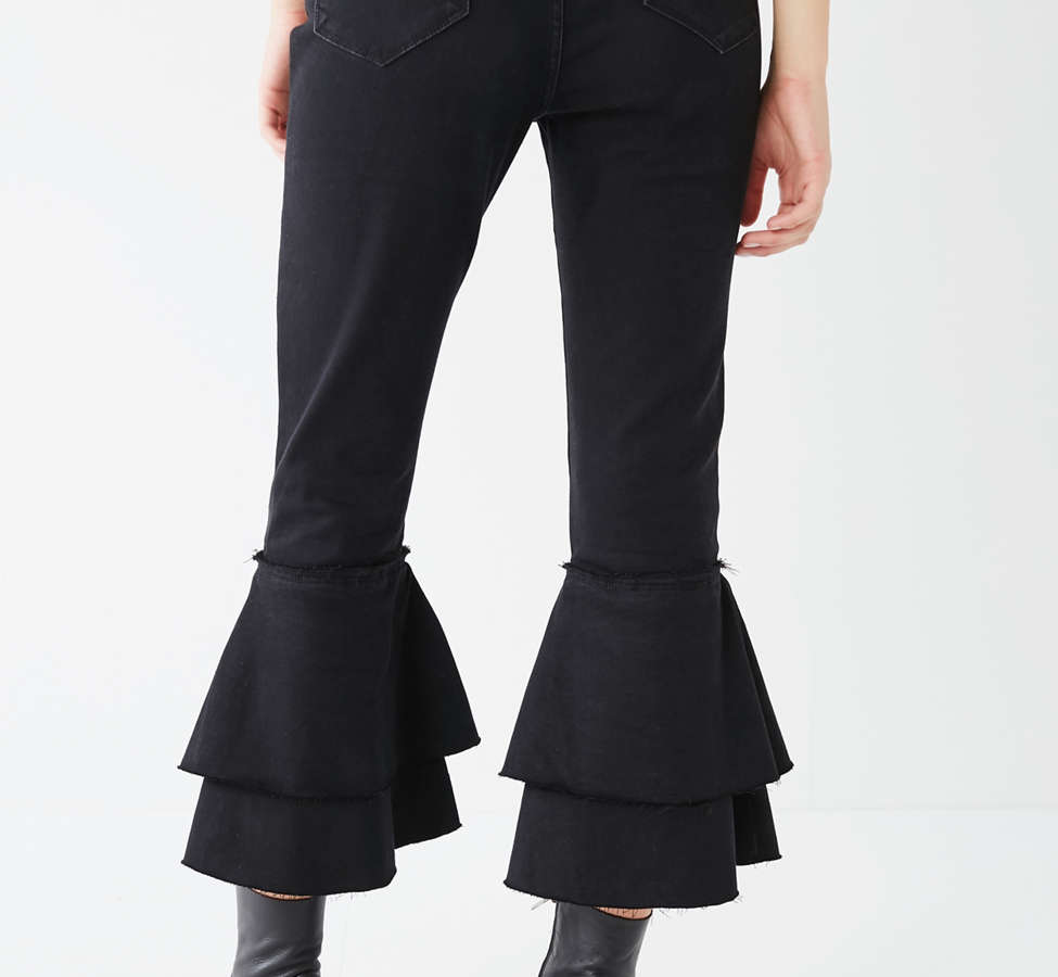 Slide View: 2: BDG High-Rise Ruffle Flare Jean