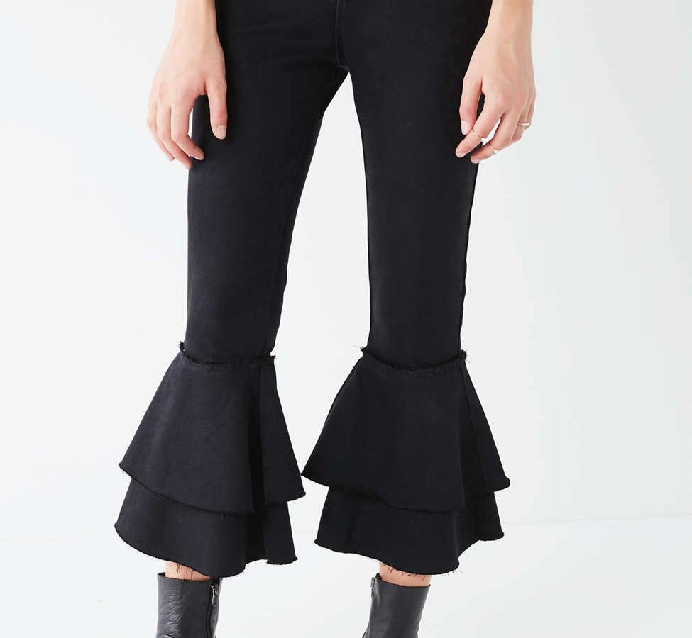 Slide View: 4: BDG High-Rise Ruffle Flare Jean