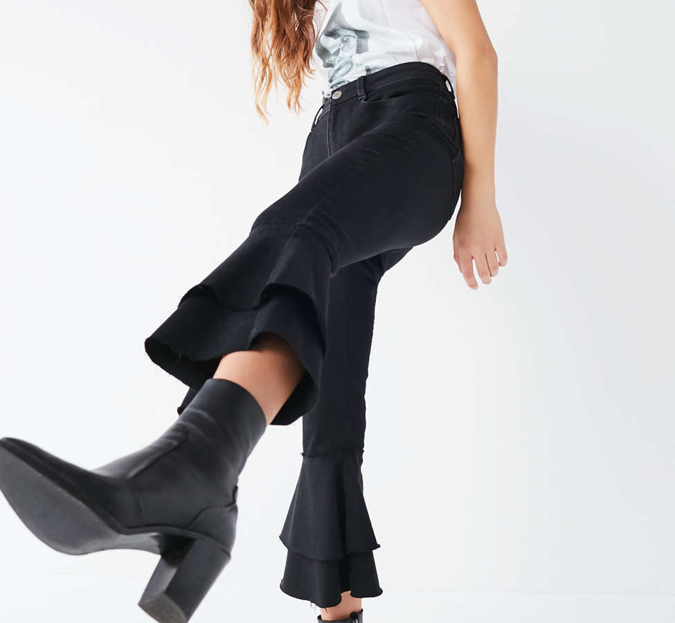 Slide View: 5: BDG High-Rise Ruffle Flare Jean