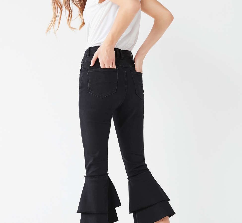 Slide View: 6: BDG High-Rise Ruffle Flare Jean