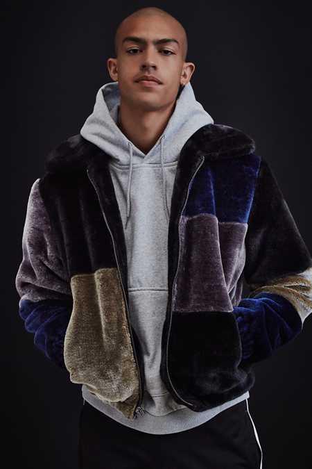 Image result for multicolored faux fur men 2017