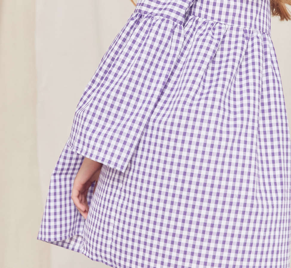 Slide View: 2: Urban Renewal Remade Bell-Sleeve Gingham Dress