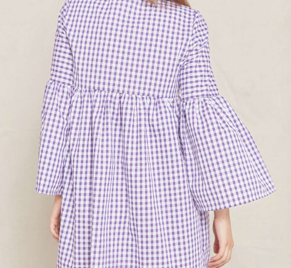 Slide View: 3: Urban Renewal Remade Bell-Sleeve Gingham Dress