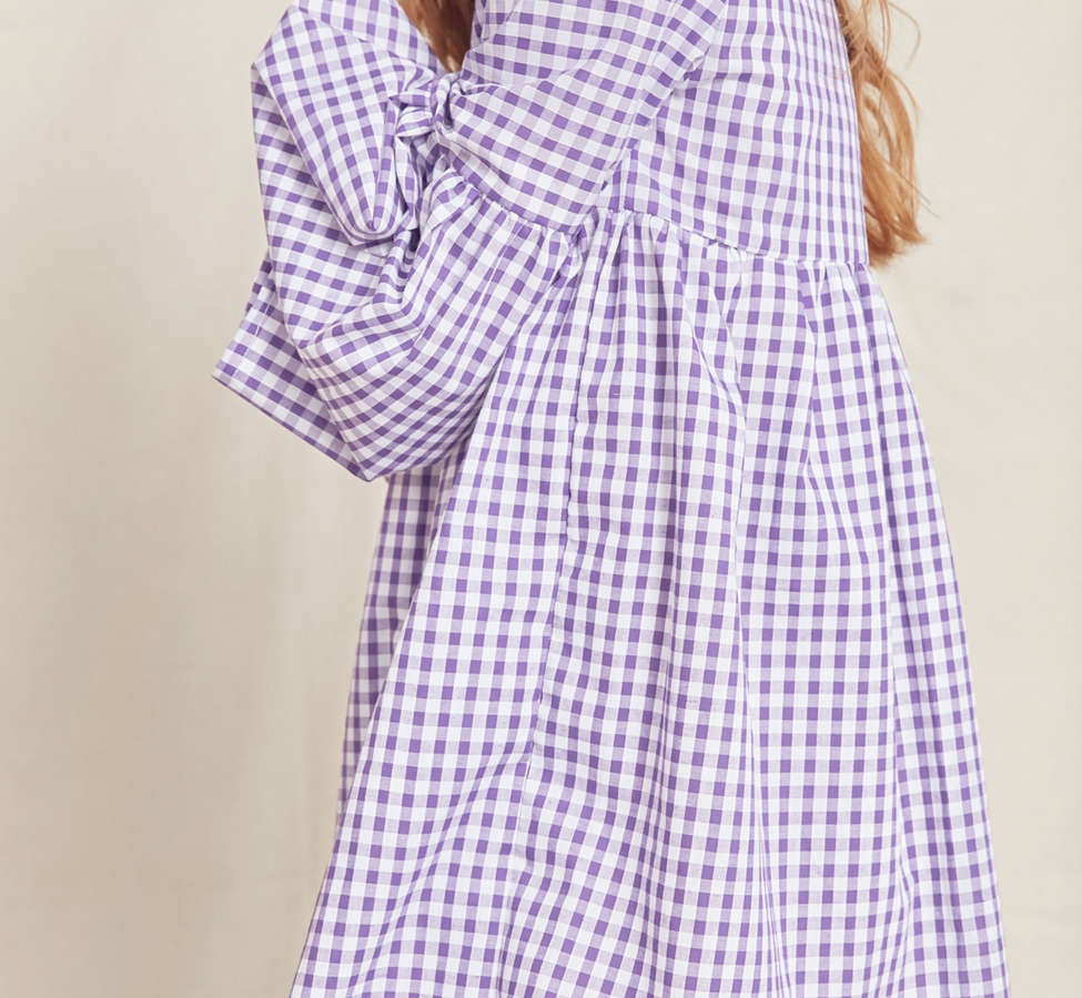 Slide View: 5: Urban Renewal Remade Bell-Sleeve Gingham Dress