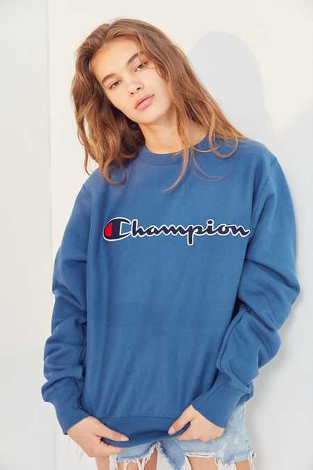 Champion Center Logo Crew-Neck Sweatshirt