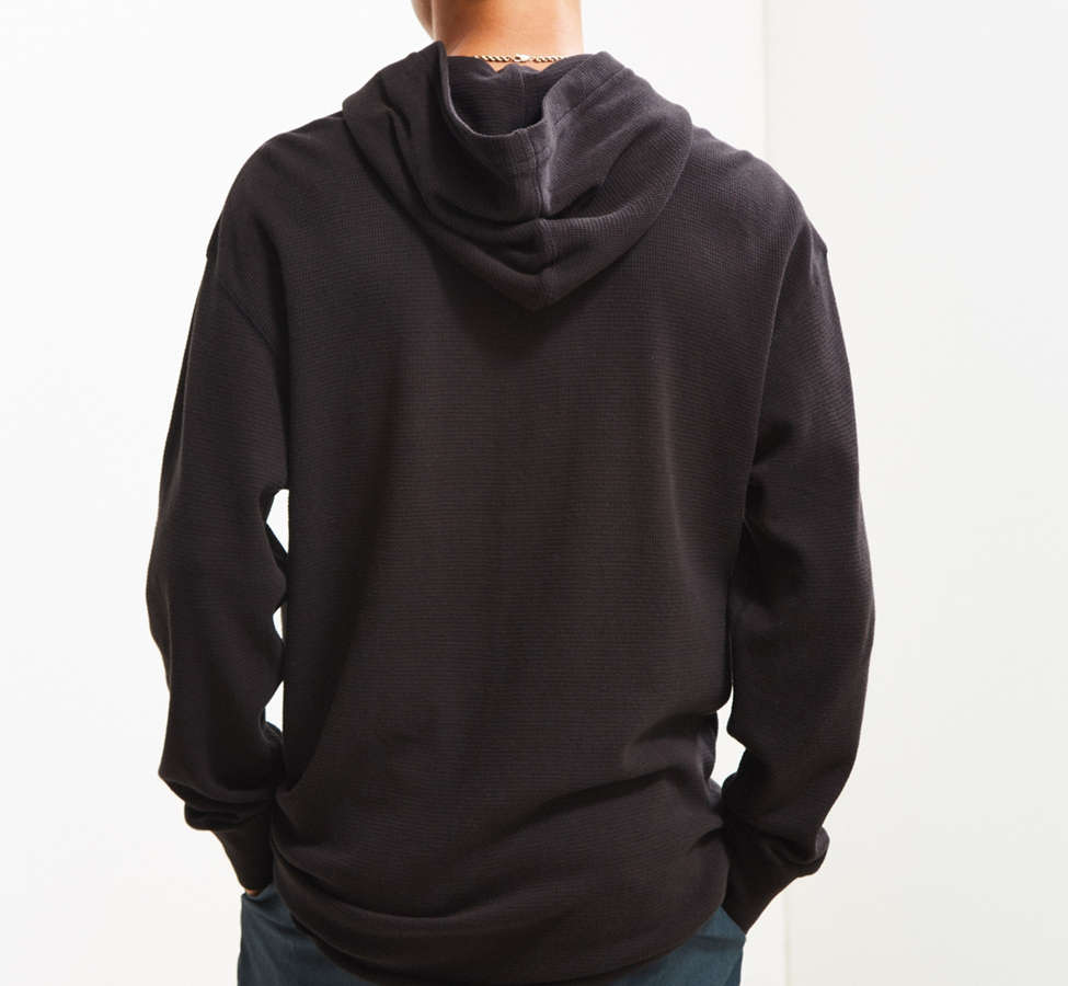 Slide View: 4: UO Colin Thermal Hooded Long Sleeve Tee