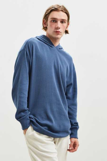 UO Colin Thermal Hooded Long Sleeve Tee