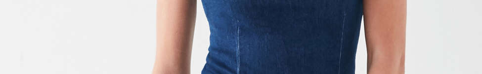 Thumbnail View 4: Six Crisp Days Vesta Frayed Denim Mini Dress