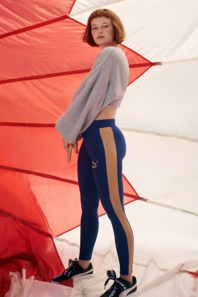 Puma Archive Logo Legging - Blue XS at Urban Outfitters