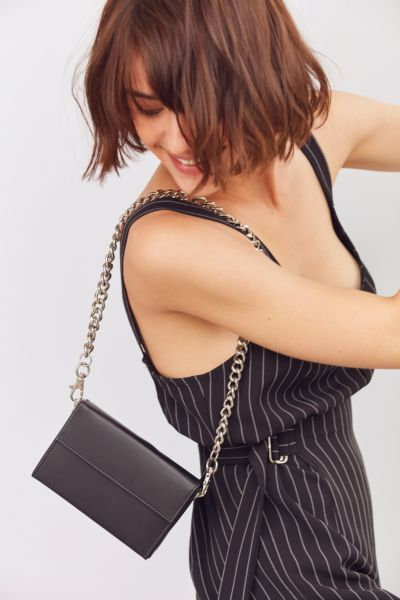Wallet Chain Shoulder Bag - Black One Size at Urban Outfitters