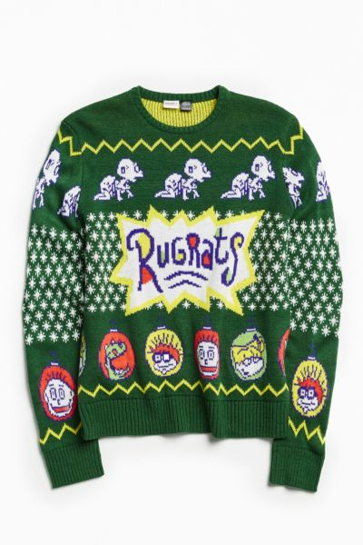 Rugrats Holiday Sweater - Green S at Urban Outfitters