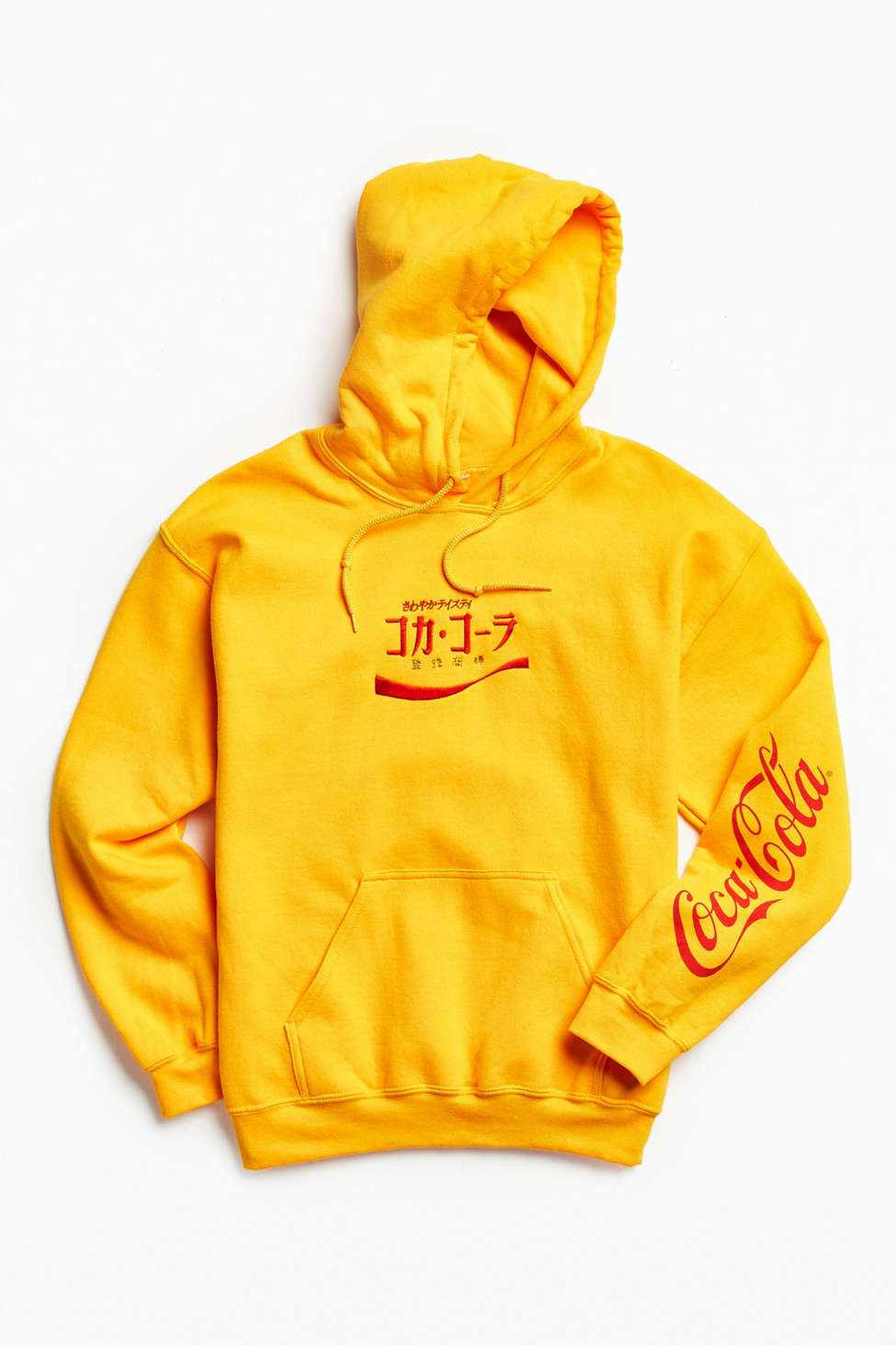 Coca Cola Embroidered Hoodie Sweatshirt Urban Outfitters