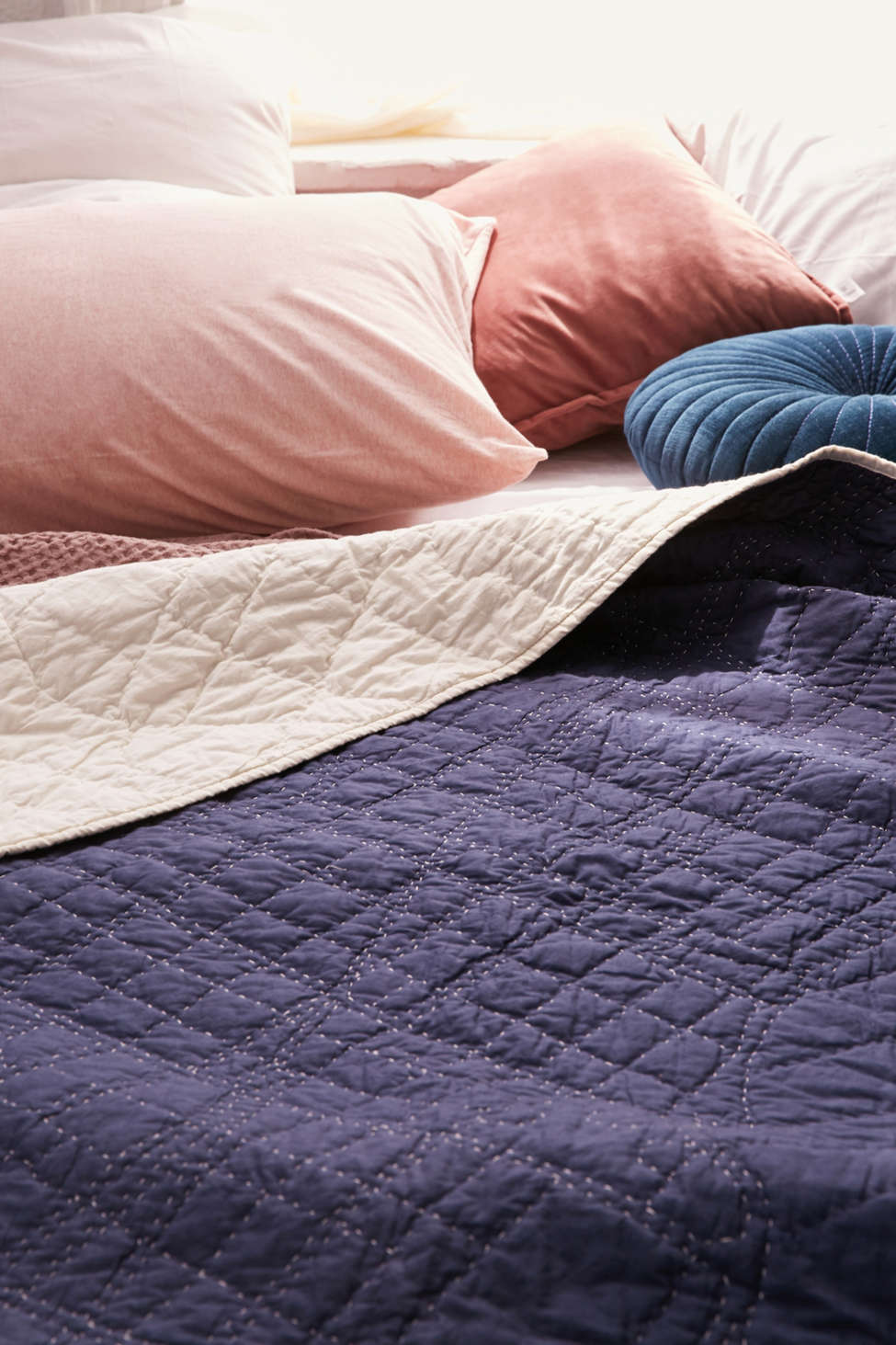 Slide View: 1: Haptic Lab NYC City Lines Quilted Throw Blanket