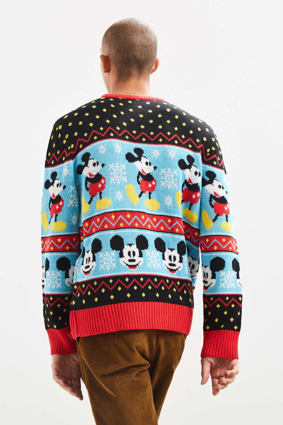Mickey Mouse Fair Isle Sweater | Urban Outfitters Canada