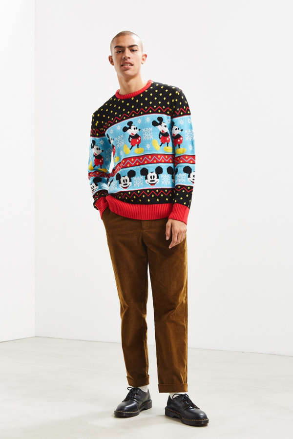 Mickey Mouse Fair Isle Sweater | Urban Outfitters