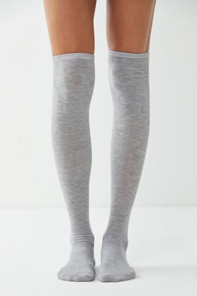Lightweight Over-The-Knee Sock - Grey One Size at Urban Outfitters