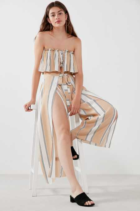Faithfull The Brand Island Striped Wide-Leg Pant