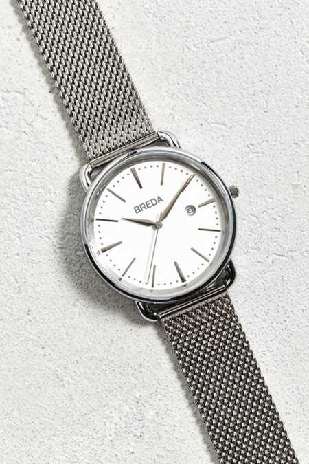 Breda Linx Silver Watch