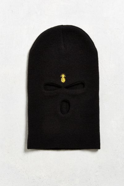 Qilo Embroidered Pineapple Ski Mask - Black One Size at Urban Outfitters