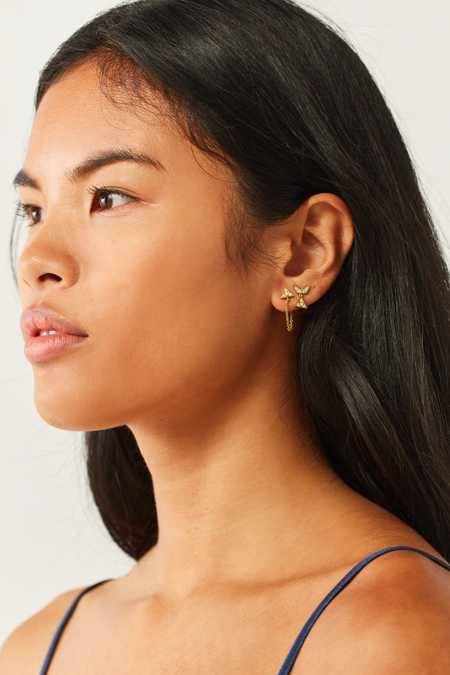 Luv Aj Pave Kite Mixed Post Earring Set