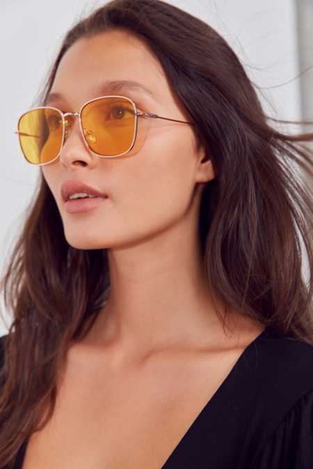 Sunday Slim Square Sunglasses