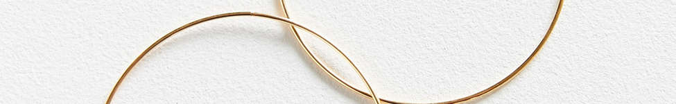 Thumbnail View 2: 18k Gold + Sterling Silver Plated Basic Hoop Earring