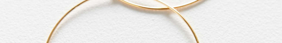 Thumbnail View 3: 18k Gold + Sterling Silver Plated Basic Hoop Earring
