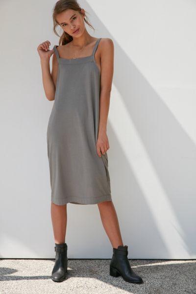 Silence + Noise Apron Wrap Midi Dress