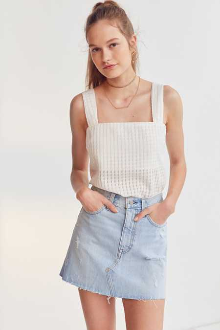 Levi's Deconstructed Denim Mini Skirt