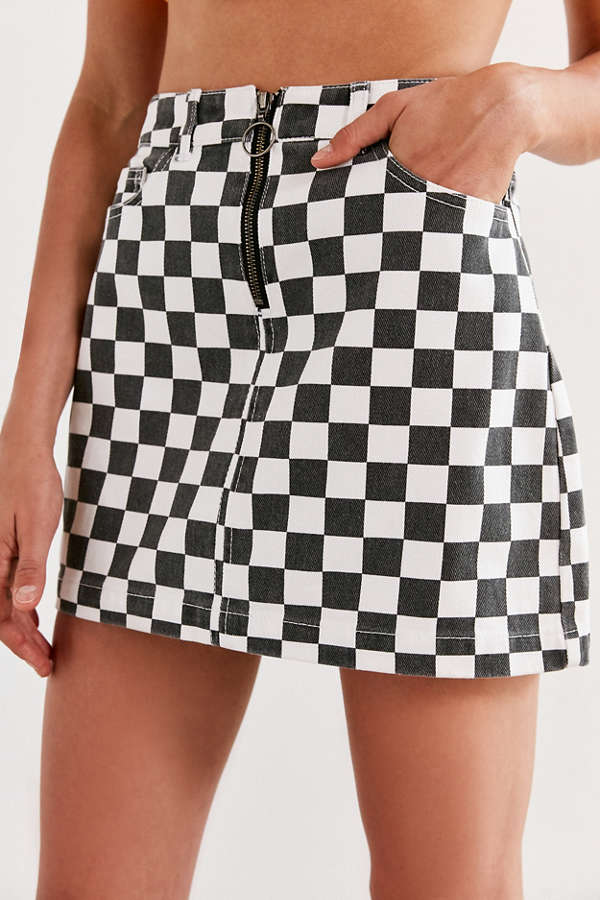 Black Checkered Skirt Fashion Skirts