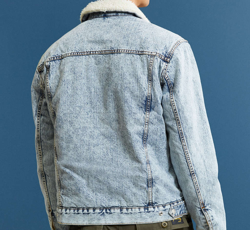 Slide View: 5: BDG Sherpa Denim Trucker Jacket