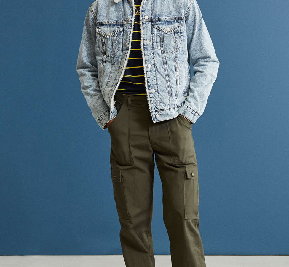 Slide View: 6: BDG Sherpa Denim Trucker Jacket