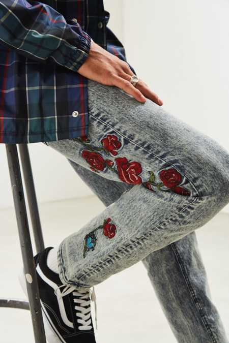 BDG Embroidered Skinny Jean