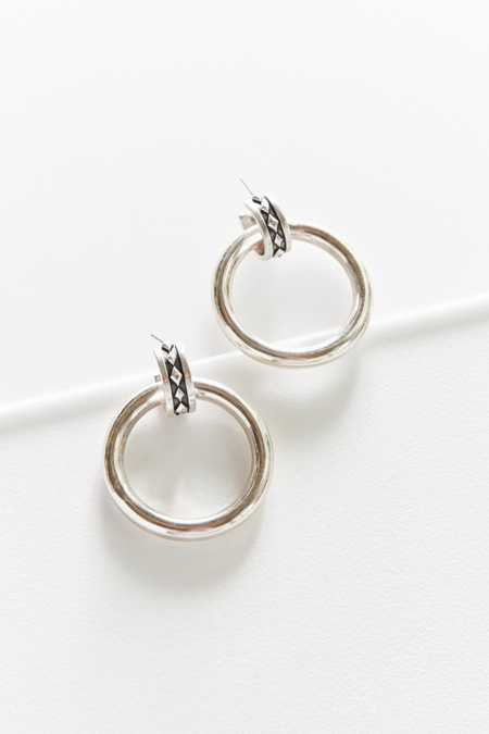 Luv Aj Evil Eye Statement Hoop Earring