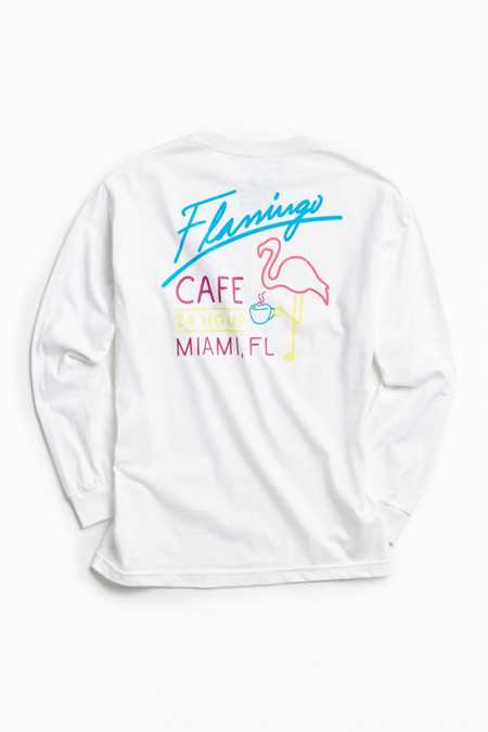 Riot Society Flamingo Cafe Long Sleeve Tee