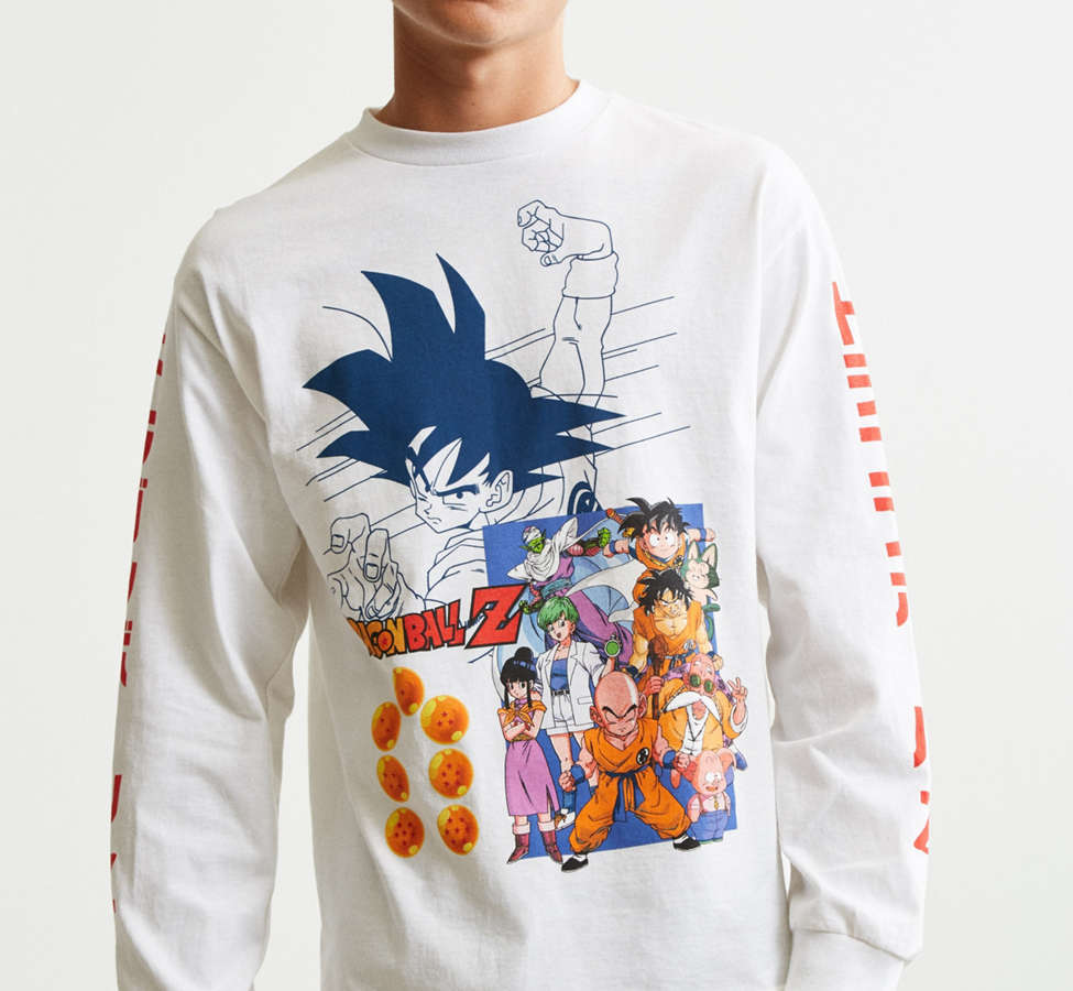Slide View: 2: Dragon Ball Z Goku Long Sleeve Tee