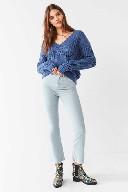 BDG Kick Flare High-Rise Cropped Corduroy Pant