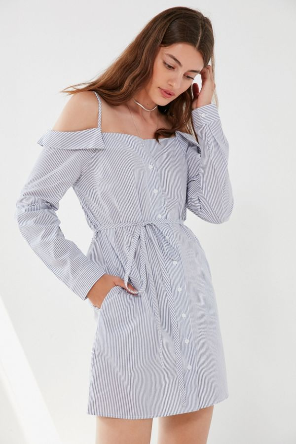Cooperative Striped Button-Down Shirt Dress | Urban Outfitters