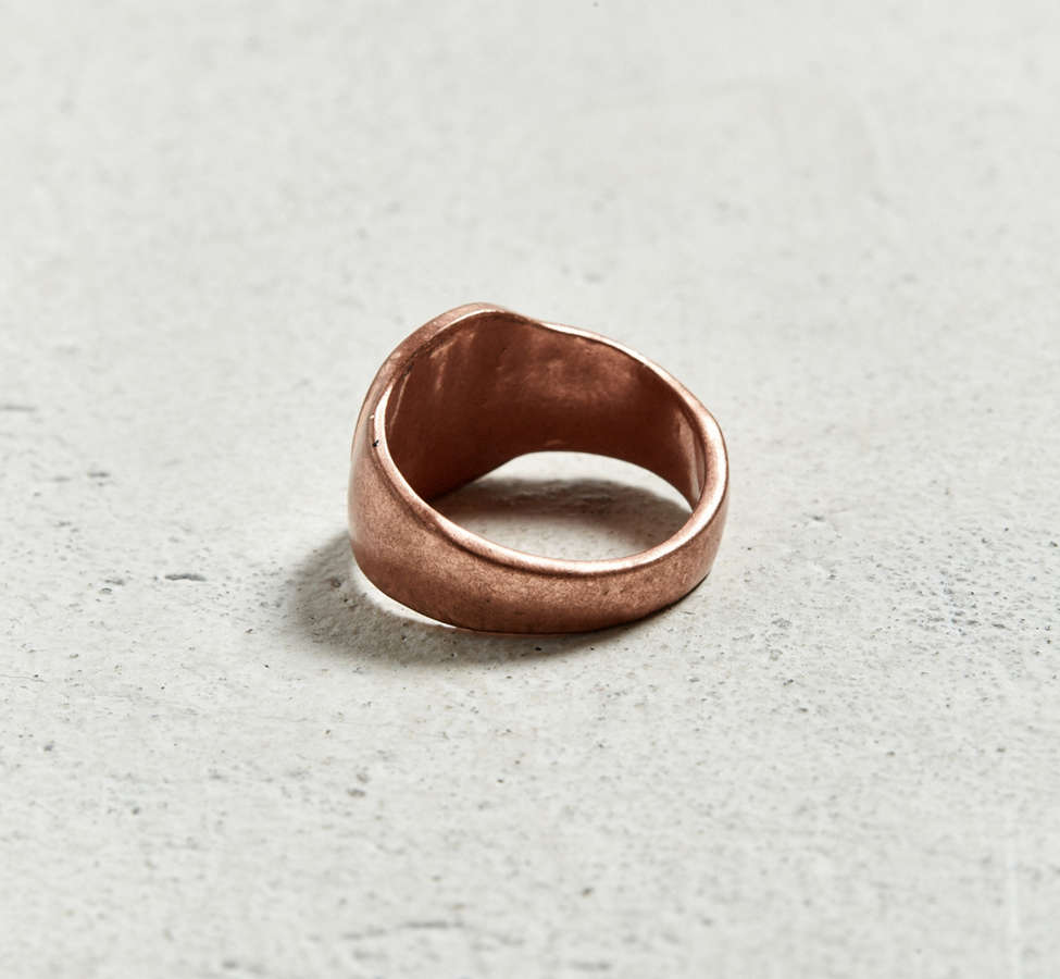 Slide View: 2: Ransom + Bond Hammered Ring