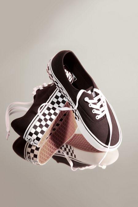 vans authentic platform sneakers in leopard print