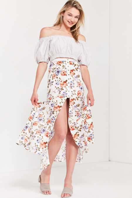 Lost In Lunar Sprint Fling Button-Down Maxi Skirt
