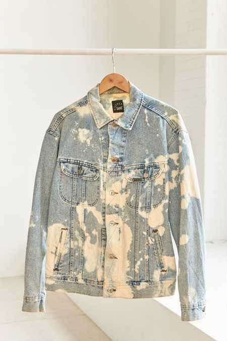 Vintage Lee '80s Acid Wash Denim Trucker Jacket