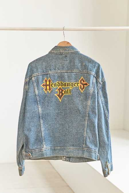 Vintage Lee '90s MTV Headbangers Ball Denim Trucker Jacket